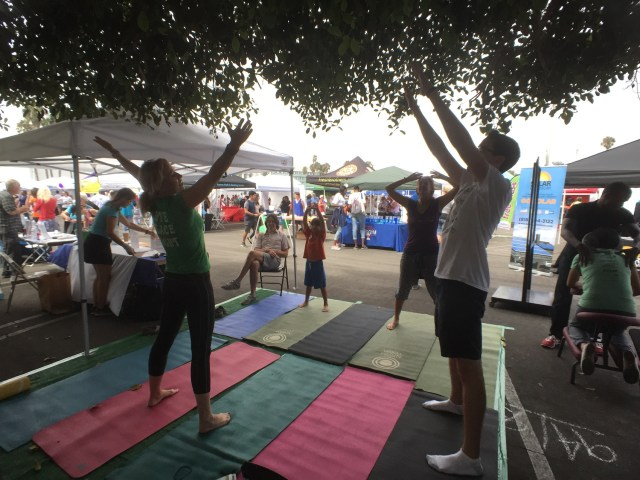 Naam Yoga: Naam Yoga of Santa Monica lead festival goers in yoga sessions throughout the day.