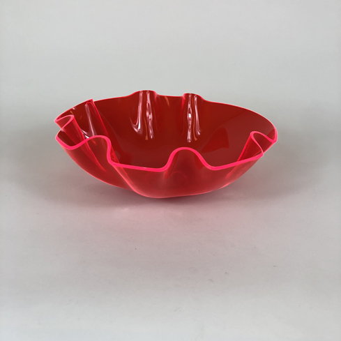 Colored Acrylic Bowls – Red Florescent