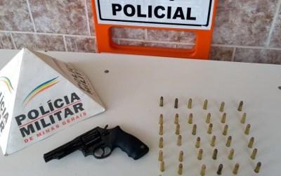 Arma de fogo e munições são apreendidas pela PM