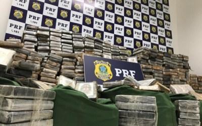 Apreensão de cocaína pela PF no Brasil cresce 46% em 2020
