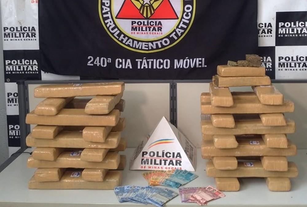 Homem é preso com 40 kg de maconha comprada em Itaúna