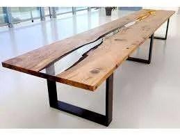tavolo legno resina epossidica roma