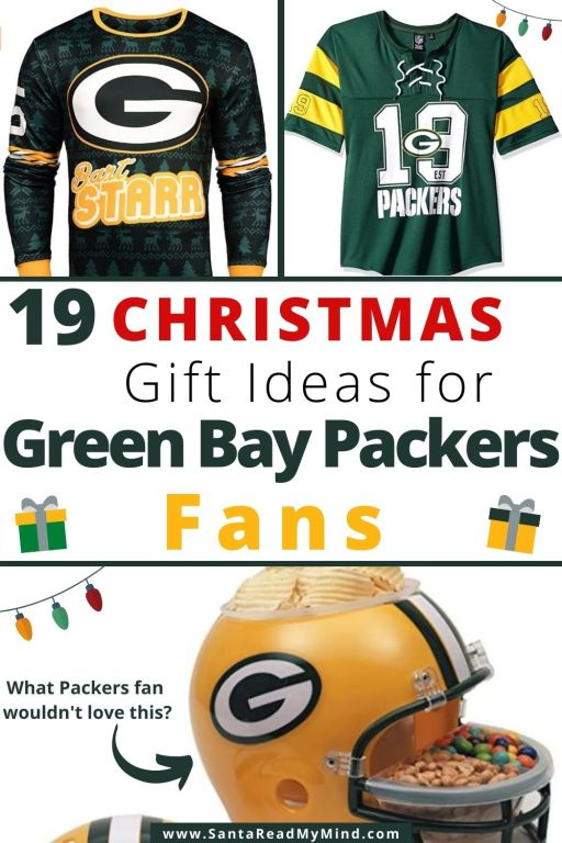 19 Christmas Gift Ideas for Green Bay Packers fans including stocking stuffer ideas