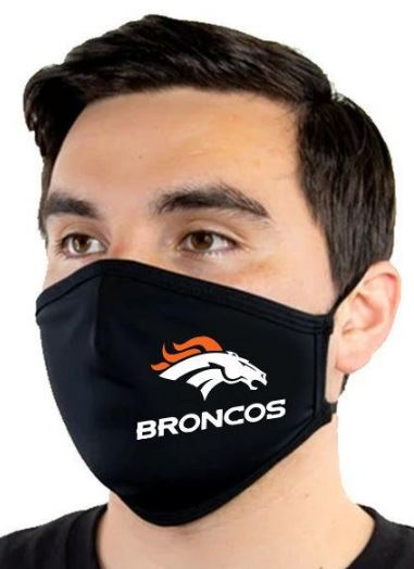 gifts for broncos fans - fabric face mask