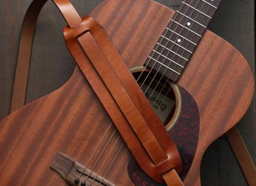 handcrafted leather guitar strap on Etsy