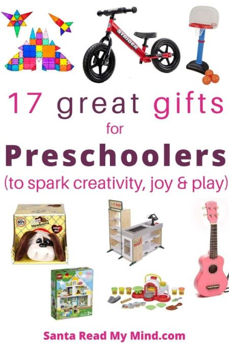 17 Great gifts for Preschoolers (ages 3-4) to help with development, and spark creativity, joy and play