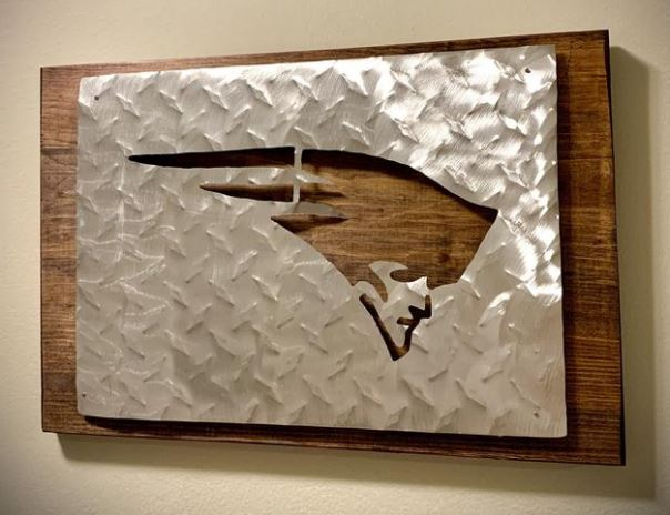 Gifts for patriots fans - wood Patriots sign with LED lighting