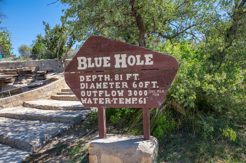 Blue Hole Sign