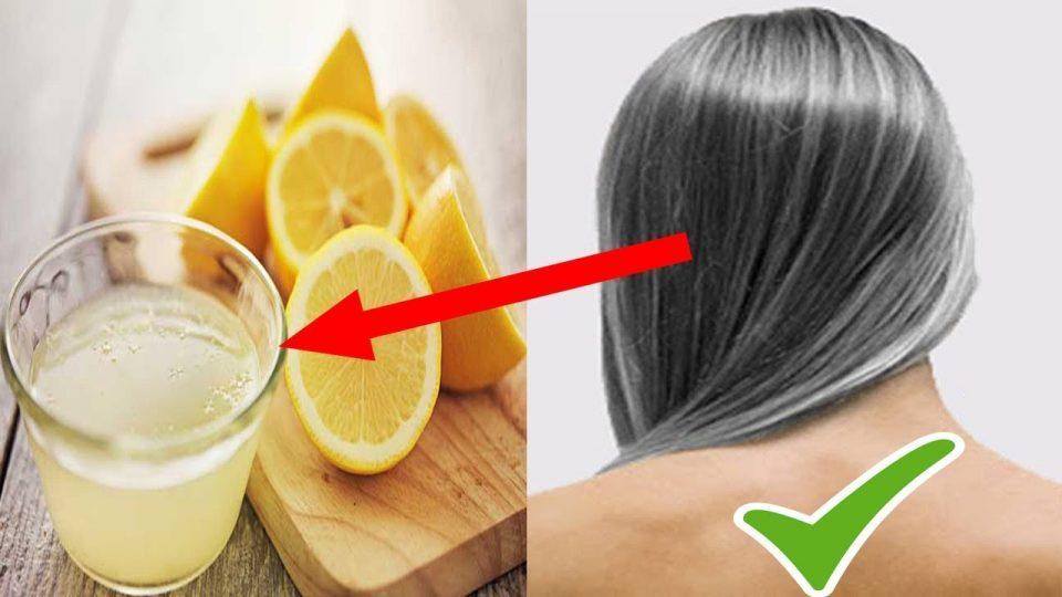 Traitement Naturel des cheveux blanc avec un mélange d'huile de Coco et de Citron