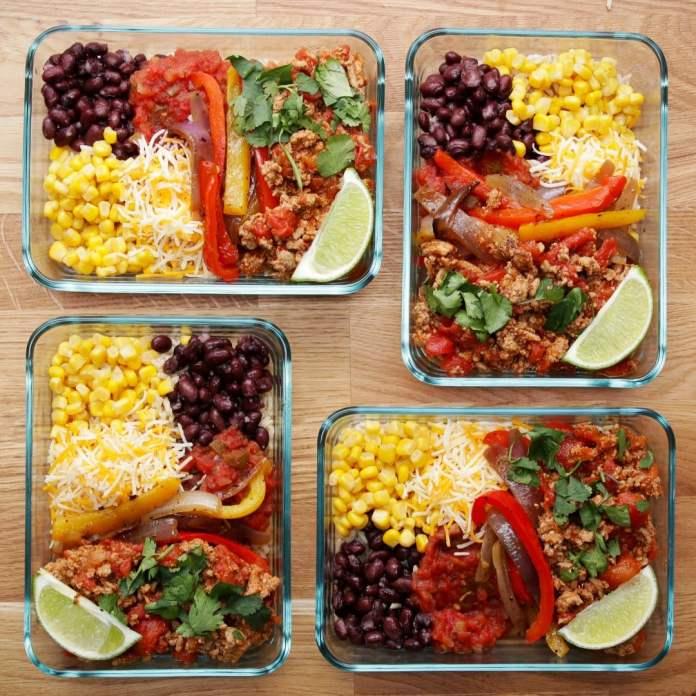 salade tacos à la dinde preparation