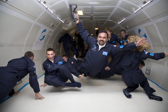 Santhosh George : Space Tourist having fun at Zero gravity