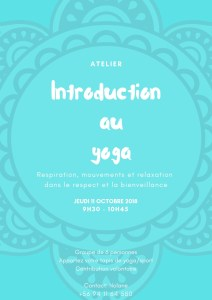 Atelier Introduction au Yoga @ Vitacura