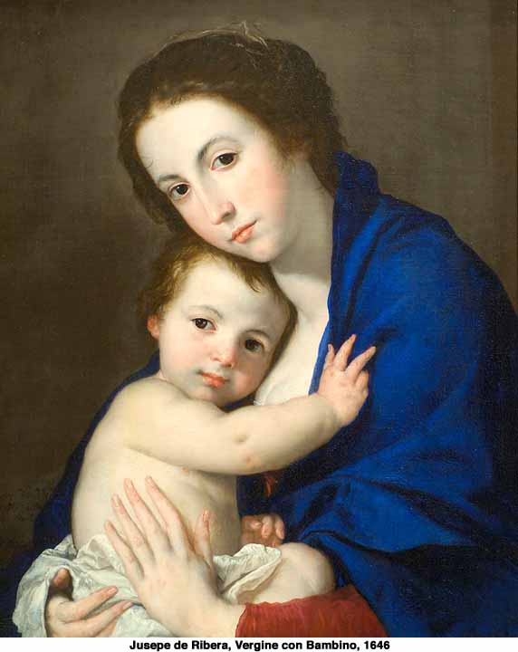 Virgin and Child by Ribera