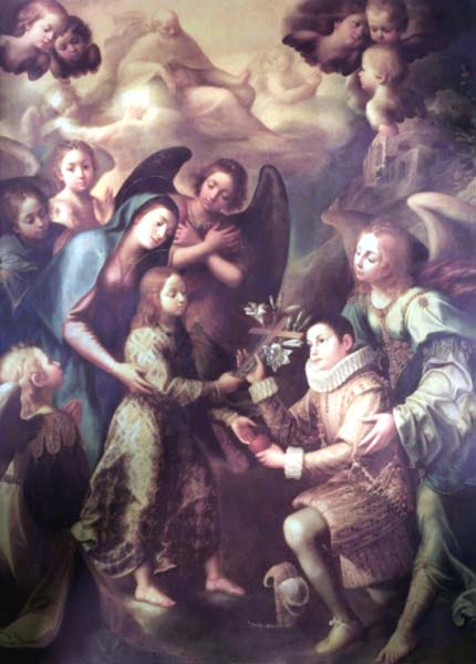 St. Aloysius Consecrates His Virginity to Jesus and Mary