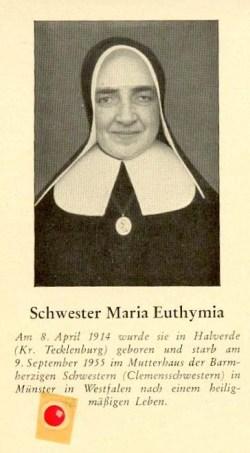blažena Marija Ema Üffing - devica in redovnica