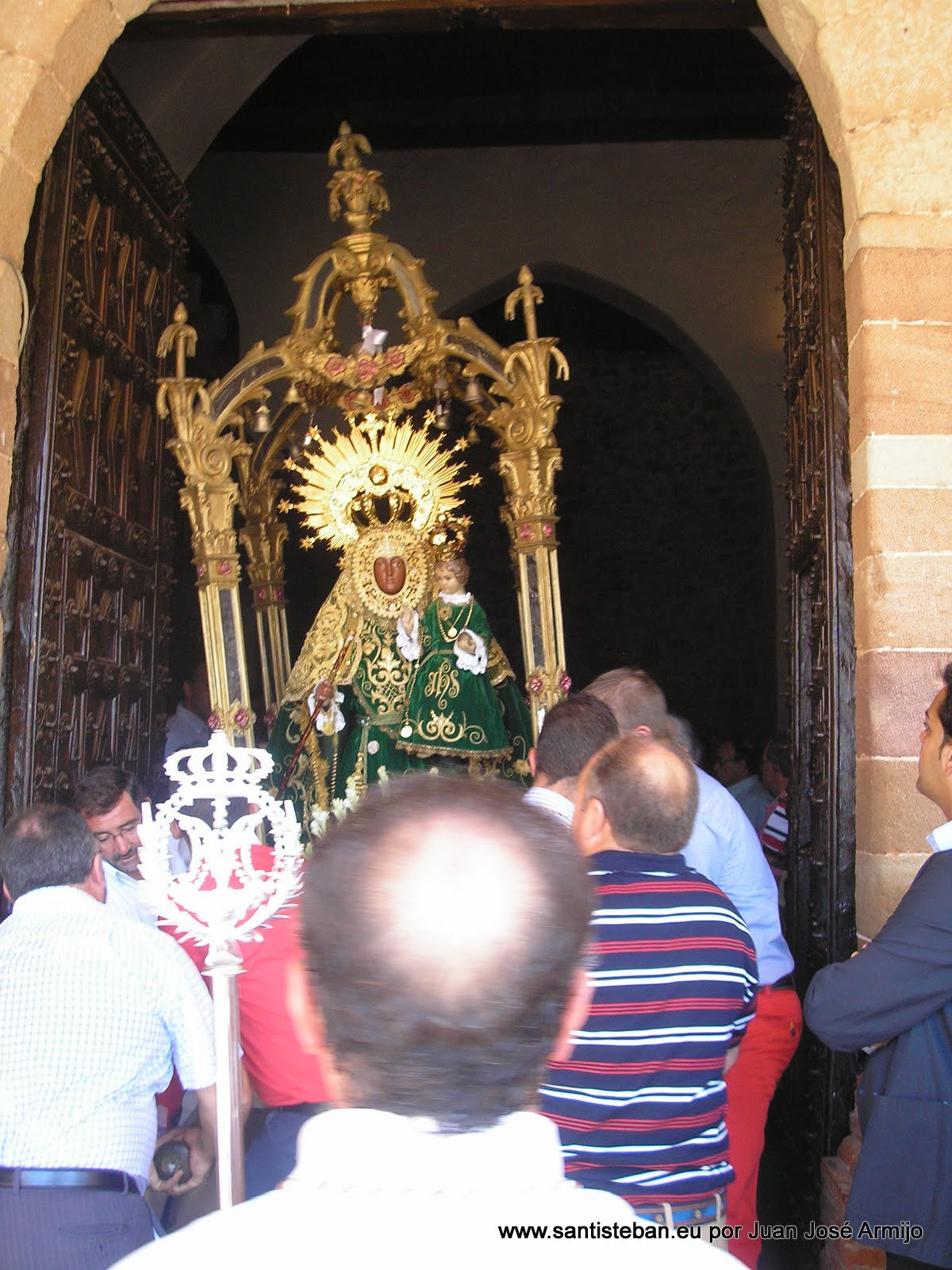 Procesión Claustral Virgen del Collado 15 agosto 2011