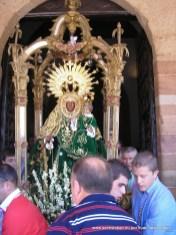 Festividad de la Asunción 15 agosto, procesión claustral y subasta