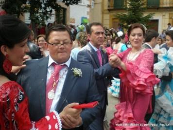 Baile en la plaza el día de las mulillas, por supuesto enharinados!