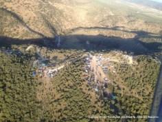 Vista aérea del día campestre en el Molino, lunes 9 de abril de 2012, por Alberto Jiménez Navarro desde su ultraligero