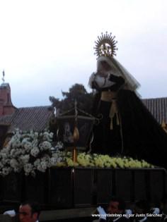 Virgen de las Lágrimas, procesionando en el Santo Entierro