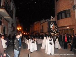 Pinguinos con el Estandarte de Jesús de la Caída en CalleSagasta