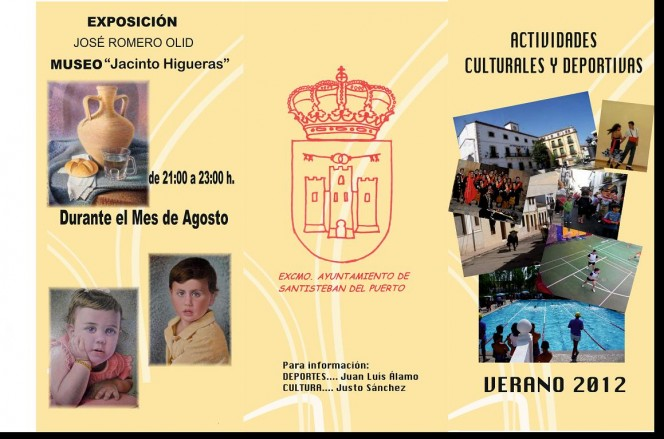 Actividades Culturales y Deportivas, Verano 2012