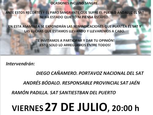 Asamblea Informativa SAT Santisteban