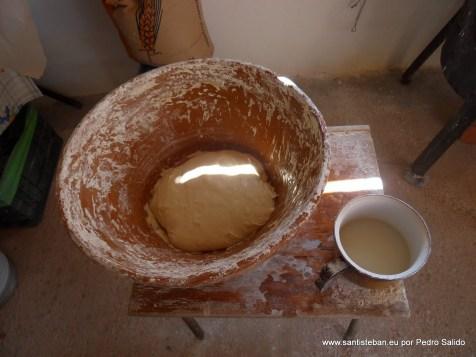 Masa para preparar los churros o buñuelos