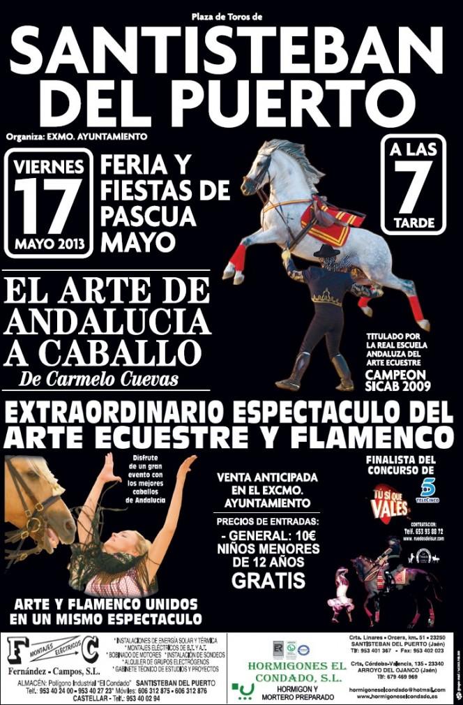 Cartel Espectáculos Taurinos y Ecuestres Santisteban 2013