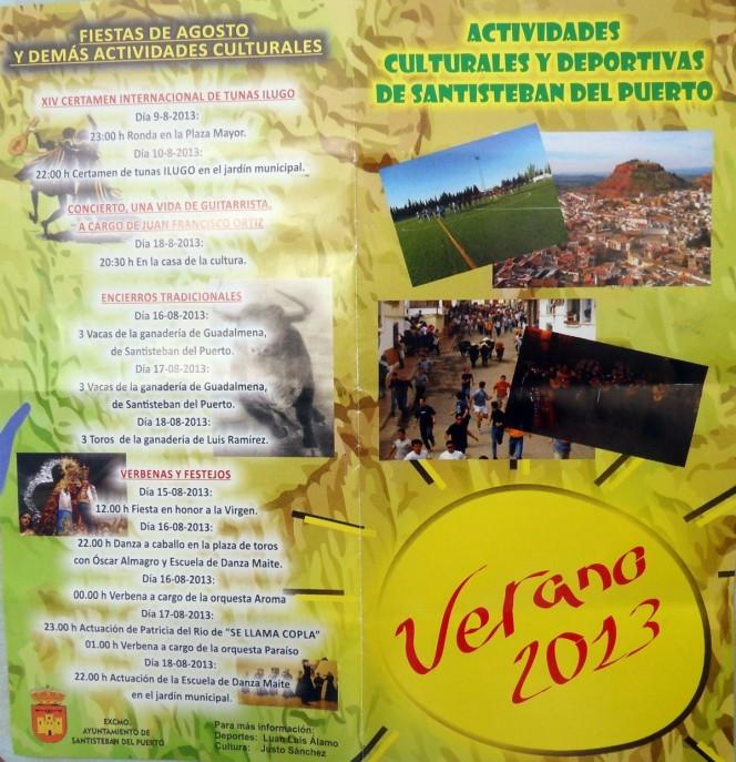 Portada folleto Vernao 2013