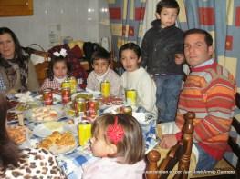 La familia de la casa del santo