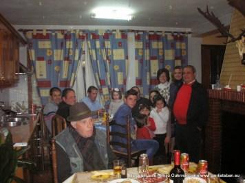 Familia Moreno Pozo, en cuyo hogar se acoge a San Sebastián