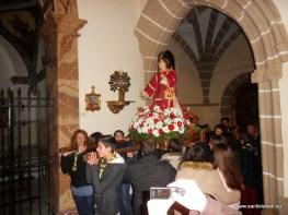 San Esteban a punto de ser procesionado