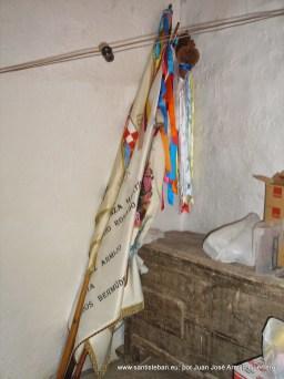 Banderas de mayordomías en el molino