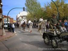 Los muleros a su paso por la Avenida de Andalucía