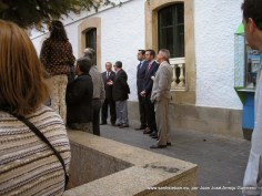 Autoridades celebrando el día de las mulillas en la Plaza Mayor