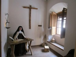 Reconstrucción de la celda de Santa Teresa.