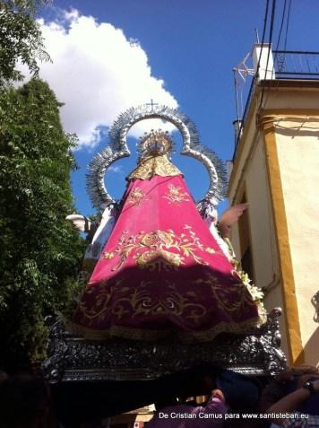 Procesión de bajada de la Virgen, sábado vísperas de Pentecostés 2015