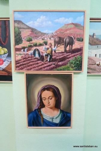 Óleo de la aparición de la Virgen del Collado y de Nuestra Señora