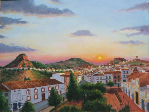 Atardecer en Santisteban, por Juan Manuel Soriano