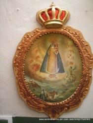 Miniatura del anterior retrato de la Virgen del Collado por J. Armijo