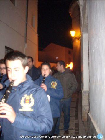 Banda de Música recogiéndose de la fiesta