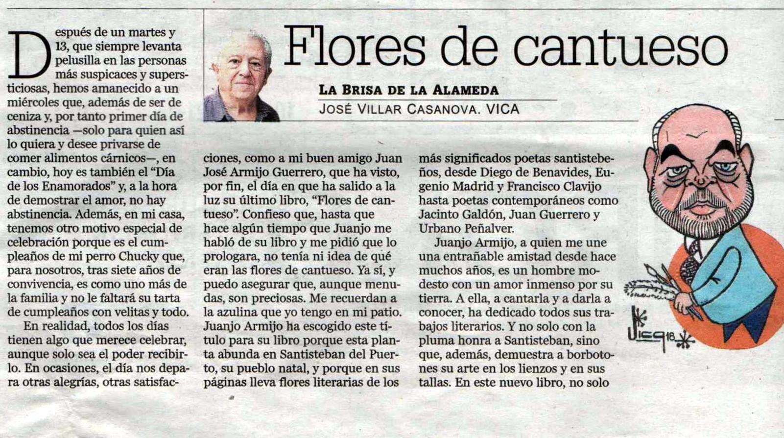Caricatura de Juan José Armijo por Vica - Diario Jaén