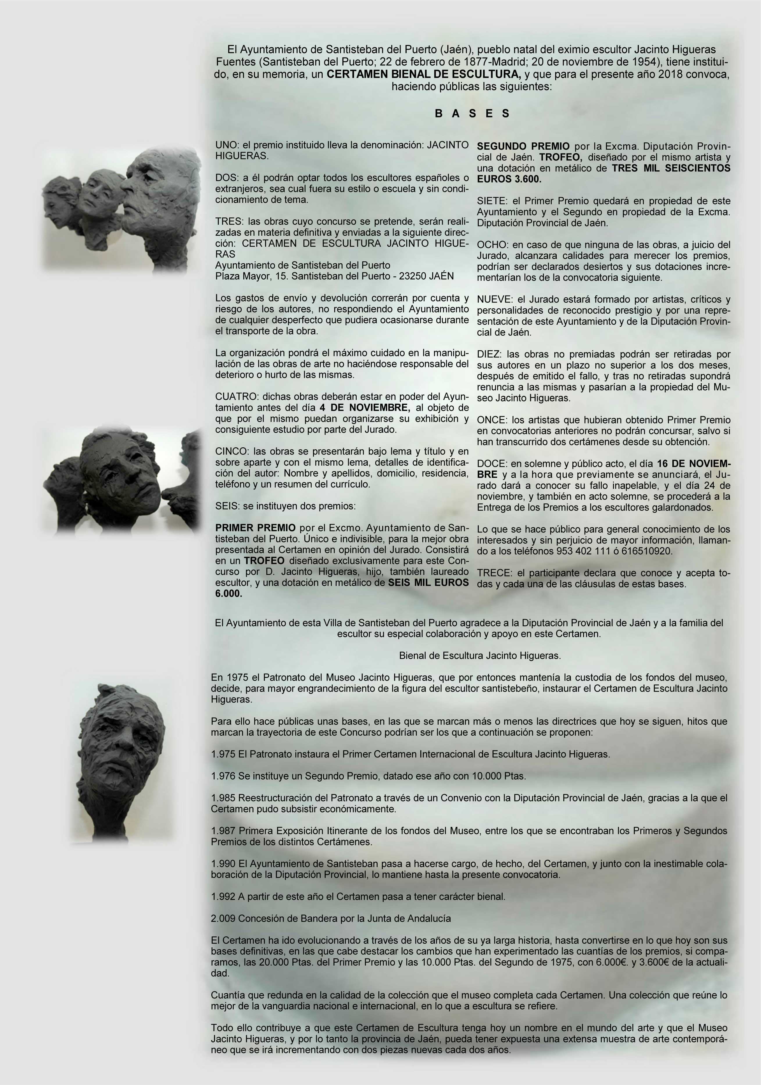 Bases 30 Bienal Escultura Jacinto Higueras