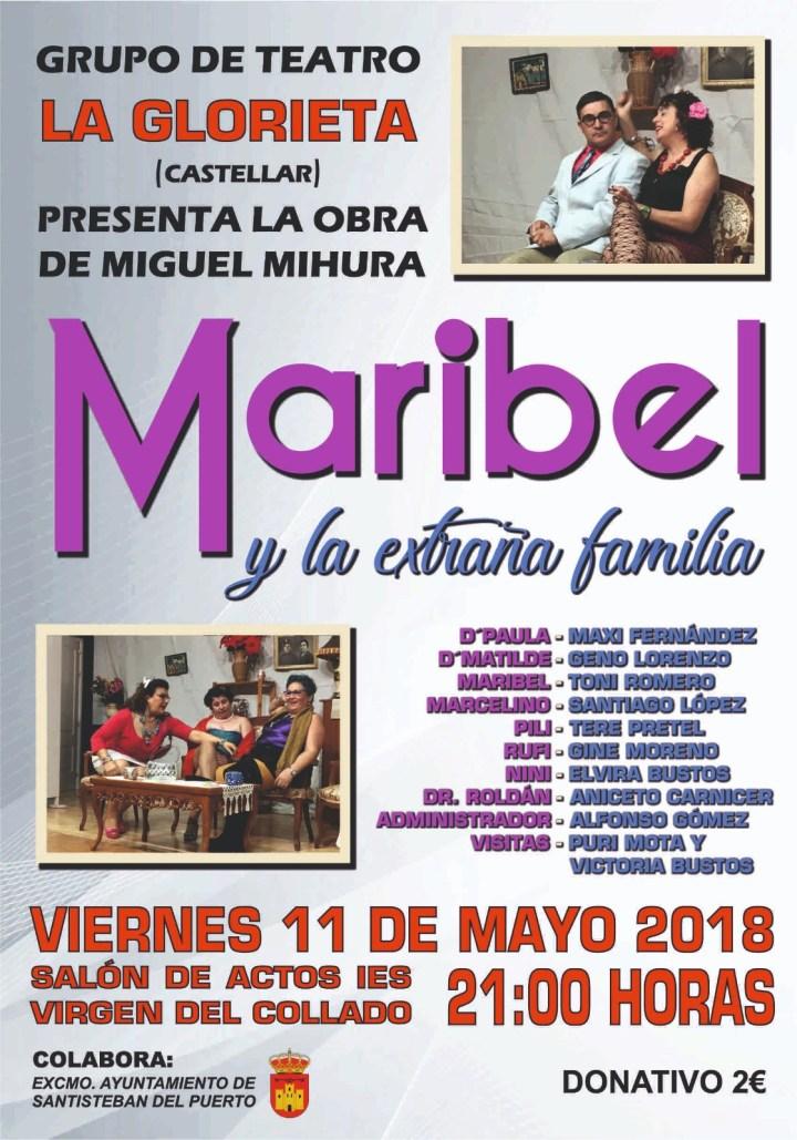 Cartel Grupo de Teatro La Glorieta 11 mayo 2018