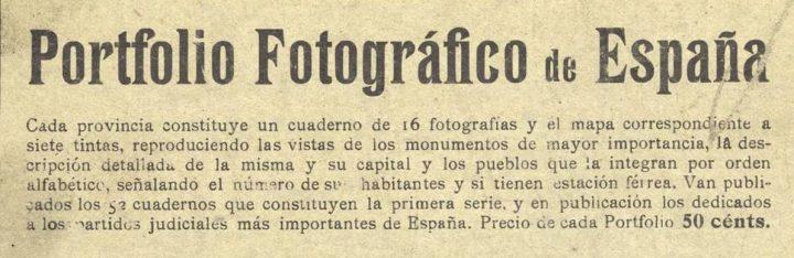 Anuncio del Portfolio en otra obra de los autores: España Regional
