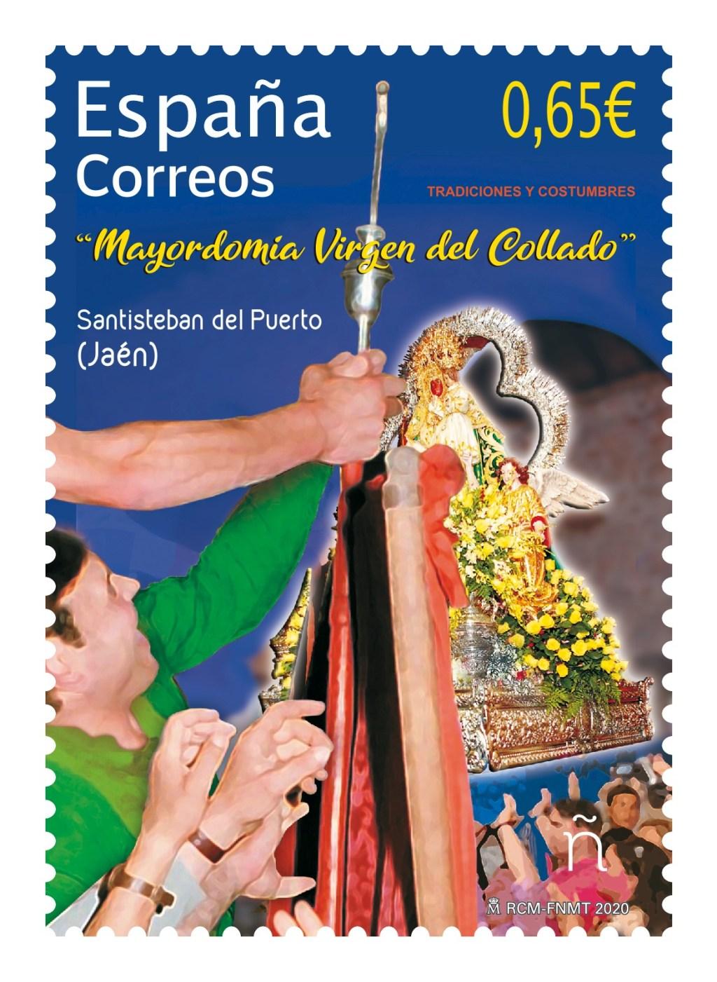 Sello Tradiciones y costumbres. Mayordomía Virgen del Collado - Emisión 15 de junio de 2020.
