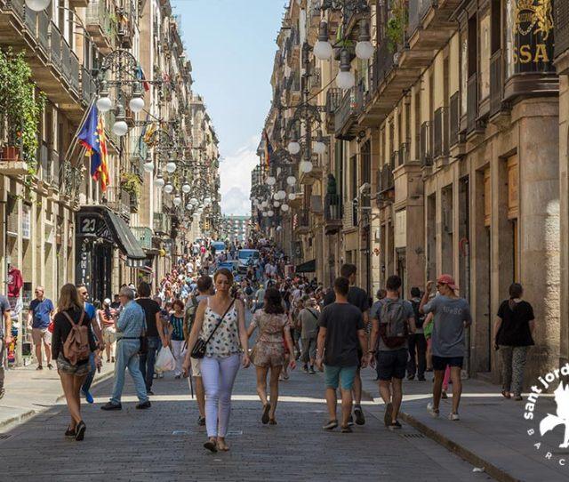 Barcelona Gothic Quarter Passeig Feran