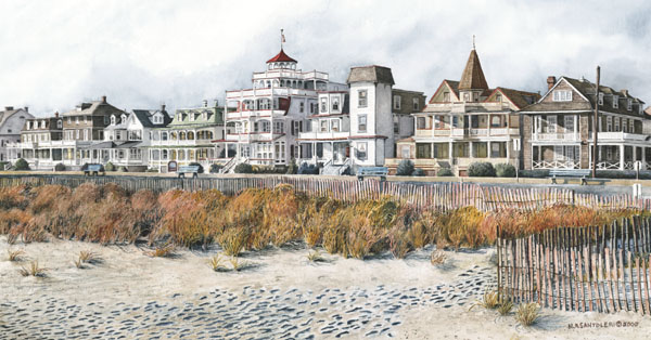 Beach Drive - Cape May Art by Santoleri