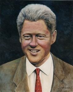 President Clinton Oil Portrait by Nicholas Santoleri